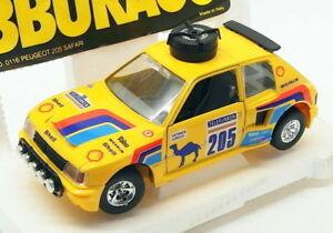 【送料無料】模型車 スポーツカー ブラーゴ124スケールモデル2518fプジョー205サファリレーシングカー イエローburago 124 scale model car 2518f peugeot 205 safari racing car yellow