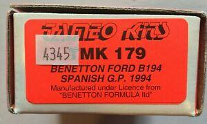 【送料無料】模型車 スポーツカー ベネトンフォードグランプリキットドライバ listingtameo lt;benetton ford b194 1994 spainsh gp 143 kit tmk179 nib 1 driver included