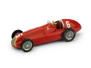 【送料無料】模型車 スポーツカー アルファロメオ#モデルalfa romeo f1 158 6 franch gp 1950 jmfangio red brumm 143 s054upd model