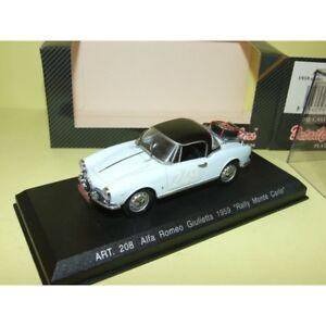 【送料無料】模型車 スポーツカー アルファromeo giulietta 249モンテcarlo 1961detailcars 208 143alfa romeo giulietta 249 rally monte carlo 1961 detailcars 208 143