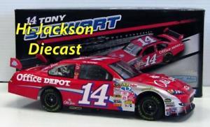 【送料無料】模型車 スポーツカー トニースチュワート#スパイスダイカストレースカーtony stewart 2009 14 old spice nascar diecast race car 124