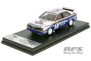 【送料無料】模型車 スポーツカー アウディクワトロチームロスマンズラリーアルガルヴェaudi quattro a2 team rothmans rally algarve 1986 143 trofeu rral 029mr