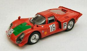 【送料無料】模型車 スポーツカー アルファromeo 3321651000kmnurburgring 1968ガルリ143モデルalfa romeo 332 16 5th 1000 km nurburgring 1968 jointsgalli 143 model