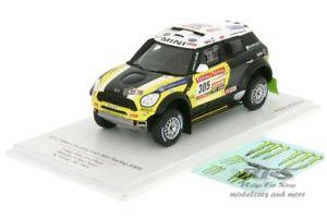 【送料無料】模型車 スポーツカー ミニレースダカールラリーローマモデルmini countryman all4 racing rally dakar 2012 roma 143 tsm model 144343