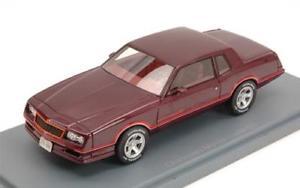 【送料無料】模型車 スポーツカー シボレーモンテカルロメタリックダークレッドネオモデルchevrolet monte carlo ss 1983 metallic dark red 143 neoscale neo44806 model