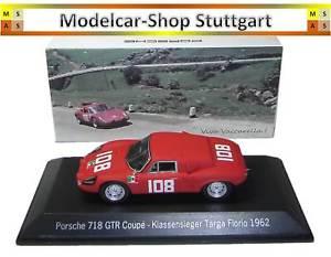 【送料無料】模型車 スポーツカー ポルシェクーペタルガフローリオスパークマップporsche 718 gtr coupe winner targa florio 1962 spark 143 map02017115