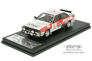 【送料無料】模型車 スポーツカー アウディクワトロピッツサファリラリーブルツaudi quattro a2piz buinsafari rally 1984wurz 143 trofeu scala 43