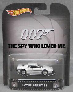 【送料無料】模型車 スポーツカー ホットホイールレトロエンターテイメントロータスエスプリホワイトジェームズボンドhot wheels 2015 retro entertainment lotus esprit s1 white james bond 007