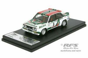 【送料無料】模型車 スポーツカー フィアットアバルトラリーポルトガルfiat 131 abarth rally portugal 1978walter rhrl 143 tr rral 015