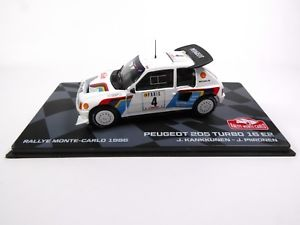 【送料無料】模型車 スポーツカー プジョー205ターボ16e2モンテカルロ1986kankkunen 143 rally model car rb7peugeot 205 turbo 16 e2 monte carlo 1986 kankkunen 143 rally mode