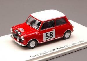【送料無料】模型車 スポーツカー モーリスクーパー58モンテカルロ1963 143s1189モデルmorris cooper 58 monte carlo 1963 143 spark s1189 model