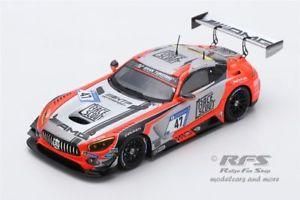 【送料無料】模型車 スポーツカー メルセデスグアテマラニュルブルクリンクモータースポーツモルタラシングルmercedesamg gt3 24h nrburgring 2018 htp motorsport mortara 143 spark sg 419
