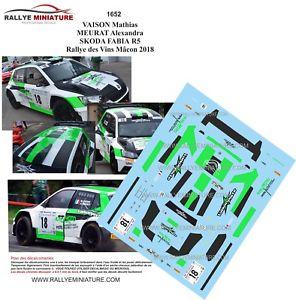【送料無料】模型車 スポーツカー デカールシュコダファビアラリーデヴァンマコンラリーdecals 143 ref 1652 skoda fabia r5 vaison rallye des vins macon 2018 rally