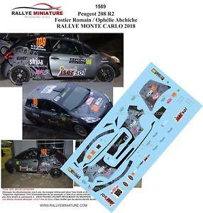 【送料無料】模型車 スポーツカー デカールプジョーモンテカルロラリーラリーdecals 143 wrc ref 1569 143 peugeot carlo 208 r2 fostier rallye monte carlo 2018 rally wrc, さくらドーム:6654c31a --- coamelilla.com