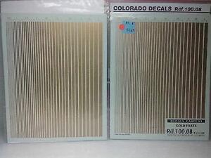 【送料無料】模型車 スポーツカー デカールゴールドネットストライプシートコロラド118 decal gold nets stripes 05 to 5 mm, two sheetscolorado 3l050