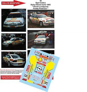【送料無料】模型車 スポーツカー ディーキャル1430010 opel calibra lundgaard rallyeモンテcarlo 1995wrcdecals 143 ref 0010 opel calibra lundgaard rallye monte carlo 1