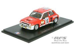 【送料無料】模型車 スポーツカー ルノー5ターボラリーdele saux 143 spark sf1981100renault 5 turbo rallye tour de corse 1981grantedle saux 143 spark sf 100