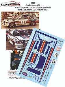 【送料無料】模型車 スポーツカー デカールオペルアスコナラリーモンテカルロラリーdecals 143 ref 1584 opel ascona 400 frequelin rally monte carlo 1983 rally