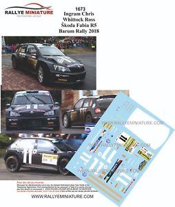 【送料無料】模型車 スポーツカー ディーキャル1431673 ingram skoda fabia r5barum2018decals 143 ref 1673 ingram skoda fabia r5 barum rally 2018 rally