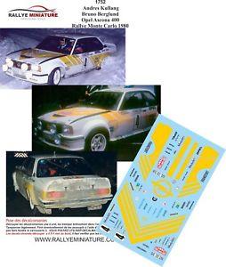 【送料無料】模型車 スポーツカー デカールオペルアスコナモンテカルロラリーラリーdecals 143 ref 1752 kullang 400 opel ascona rallye monte carlo 1980 wrc rally