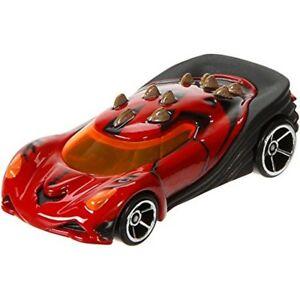 Mattel Hot Wheels Star Wars Darth Vader Charakter Auto in Schwarz Redline Räder