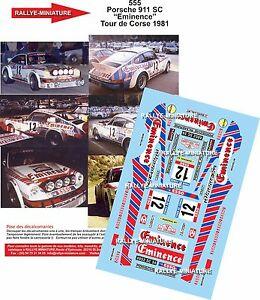 【送料無料】模型車 スポーツカー デカールポルシェヴィンセントツールドコルスラリーラリーdecals 143 ref 555 porsche 911 vincent tour de corse 1981 rally rally wrc