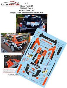 【送料無料】模型車 スポーツカー デカールシュコダファビアラリーリヨンラリーdecals 143 ref 1617 skoda fabia r5 favrat rally lyon charbonnieres 2018 rally