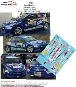 【送料無料】模型車 スポーツカー デカールプジョーパスカルモンテカルロラリーラリーdecals 143 ref 1793 peugeot 207 s2000 pascal rallye monte carlo 2011 irc rally