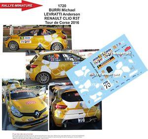 【送料無料】模型車 スポーツカー デカールルノークリオツールドコルスラリーdecals 143 ref 1720 renault clio r3t burri tour de corse 2016 rally wrc