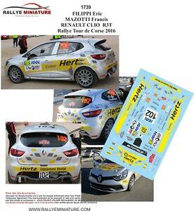 【送料無料】模型車 スポーツカー デカールルノークリィリッピツールドコルスラリーラリーdecals 143 ref 1739 renault clio r3 filippi tour de corse 2016 rally wrc rally