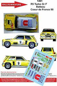 【送料無料】模型車 スポーツカー デカールルノーターボラリーラリーdecals 143 ref 1461 renault 5 turbo rallye batteau coeur de france 1998 rally