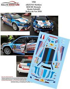 【送料無料】模型車 スポーツカー デカールシュコダファビアラリーdecals 143 ref 1763 skoda fabia r5 arzeno rallye du var 2018 rally
