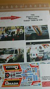 【送料無料】模型車 スポーツカー ディーキャル143744 mitsubishi pajeroparisdakar marreau 1990decals 143 ref 744 mitsubishi pajero rally paris dakar marreau 1990