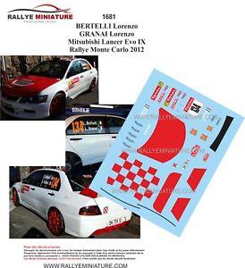 【送料無料】模型車 スポーツカー ディーキャル1431681 mtsubishibertelli rallyeモンテcarlo 2012decals 143 ref 1681 mtsubishi lancer bertelli rallye monte carlo 2012 r