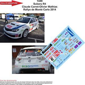 【送料無料】模型車 スポーツカー ディーキャル1431449 subaru impreza carret rallyeモンテcarlo 2014wrcdecals 143 ref 1449 subaru impreza carret rallye monte carlo 201
