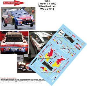 【送料無料】模型車 スポーツカー デカールシトロエンローブウォールズdecals 143 ref 1351 citroen c4 wrc loeb walles 2010