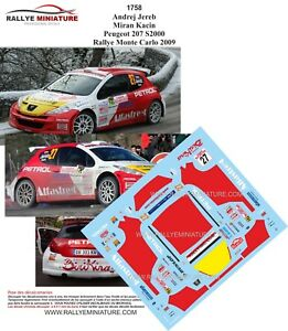 DECALS 1//18 REF 1250 PEUGEOT 307 WRC CARBONARO RALLYE MONTE CARLO 2008 RALLY