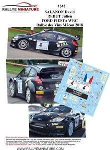 【送料無料】模型車 スポーツカー デカールフォードフィエスタラリーデヴァンマコンラリーdecals 143 ref 1643 ford fiesta wrc salanon rallye des vins macon 2018 rally