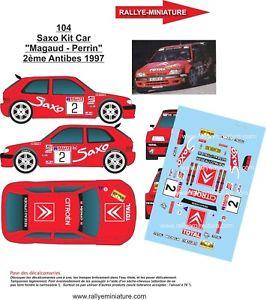 【送料無料】模型車 スポーツカー デカールシトロエンキットカーラリーラリーdecals 143 ref 0104 citroen saxo kit car magaud rallye d antibes 1997 rally