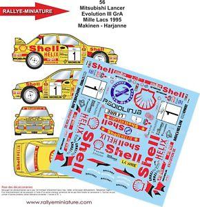 【送料無料】模型車 スポーツカー デカールラリーランサーマキネンラリーdecals 143 ref 56 mitsubishi lancer makinen rally of 1000 lakes 1995 wrc rally
