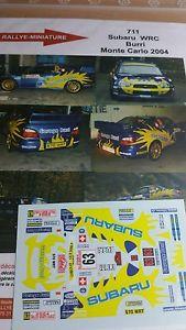 【送料無料】模型車 スポーツカー ディーキャル143711 subaru impreza wrc burriモンテcarlo 2004decals 143 ref 711 subaru impreza wrc burri rally monte carlo 2004 rally