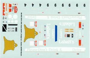 【送料無料】模型車 スポーツカー デカールbmw m3 e30 labatts btcc 1991 decal 143