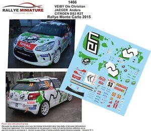 【送料無料】模型車 スポーツカー デカールシトロエンモンテカルロラリーラリーdecals 143 ref 1466 citroen ds3 r3t veiby rallye monte carlo 2015 wrc rally