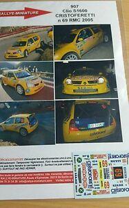 【送料無料】模型車 スポーツカー ディーキャル143907clio s1600 cristoforetti rallyeモンテcarlorenault2005decals 143 ref 907 renault clio s1600 cristoforetti rallye m