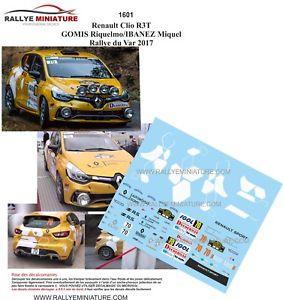 【送料無料】模型車 スポーツカー デカールルノークリオラリーdecals 143 ref 1601 renault clio r3t gomis rallye du var 2017 rally