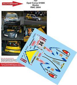 【送料無料】模型車 スポーツカー デカールオペルコルサクリスモンテカルロラリーdecals 143 ref 0737 opel corsa s1600 kris meeke 2004 monte carlo rally