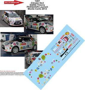【送料無料】模型車 スポーツカー ディーキャル1431407 citroen ds3 r1モンテcarlo2013wrcdecals 143 ref 1407 citroen ds3 r1 rally monte carlo darter 2013 rally wrc