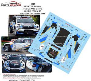 【送料無料】模型車 スポーツカー ステッカーシュコダファビアモネラリーワインマコンラリー