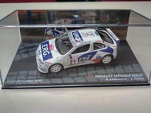 【送料無料】模型車 スポーツカー 143megane maxi sanremo 1997andreuccifedelirenaultrally car 143 renault megane maxi sanremo 1997 andreuccifedeli rally car