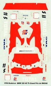 【送料無料】模型車 スポーツカー bmw 320マカオ1999ディーキャル143bmw 320 total macau 1999 decal 143